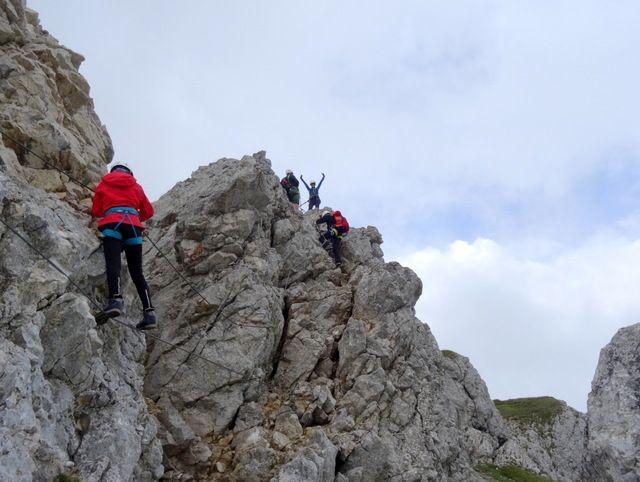 Klettersteig Achensee : Gipfel klettersteig achensee rofan alpenverein