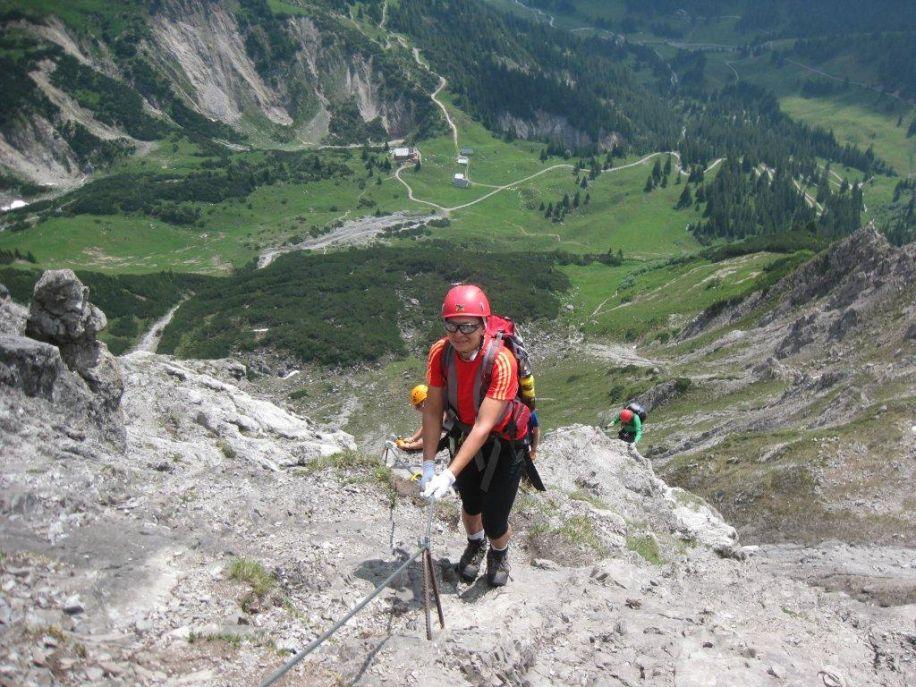 Klettersteig Saulakopf : Alpingruppe klettersteigtour alpenverein