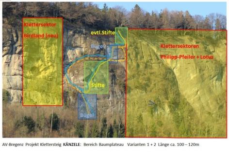Klettersteig Känzele : Projekt klettersteig am känzele alpenverein