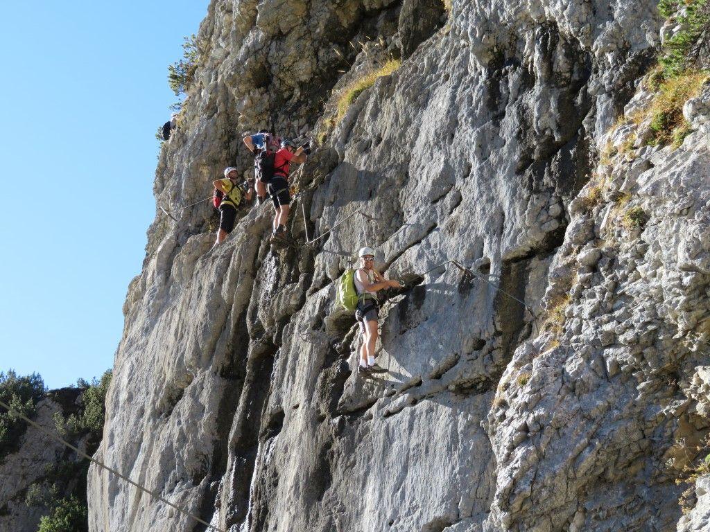 Klettersteig Klamml : Klamml klettersteig und wanderung alpenverein