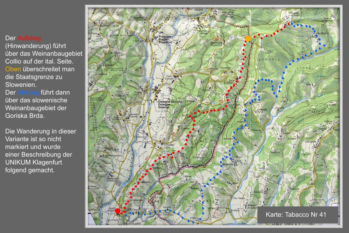 Goriska Brda Karte.Collio Goriska Brda Alpenverein