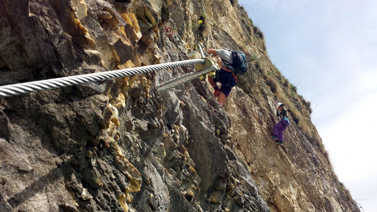 Klettersteig Schwierigkeitsgrad : Hias klettersteig bergsteigen
