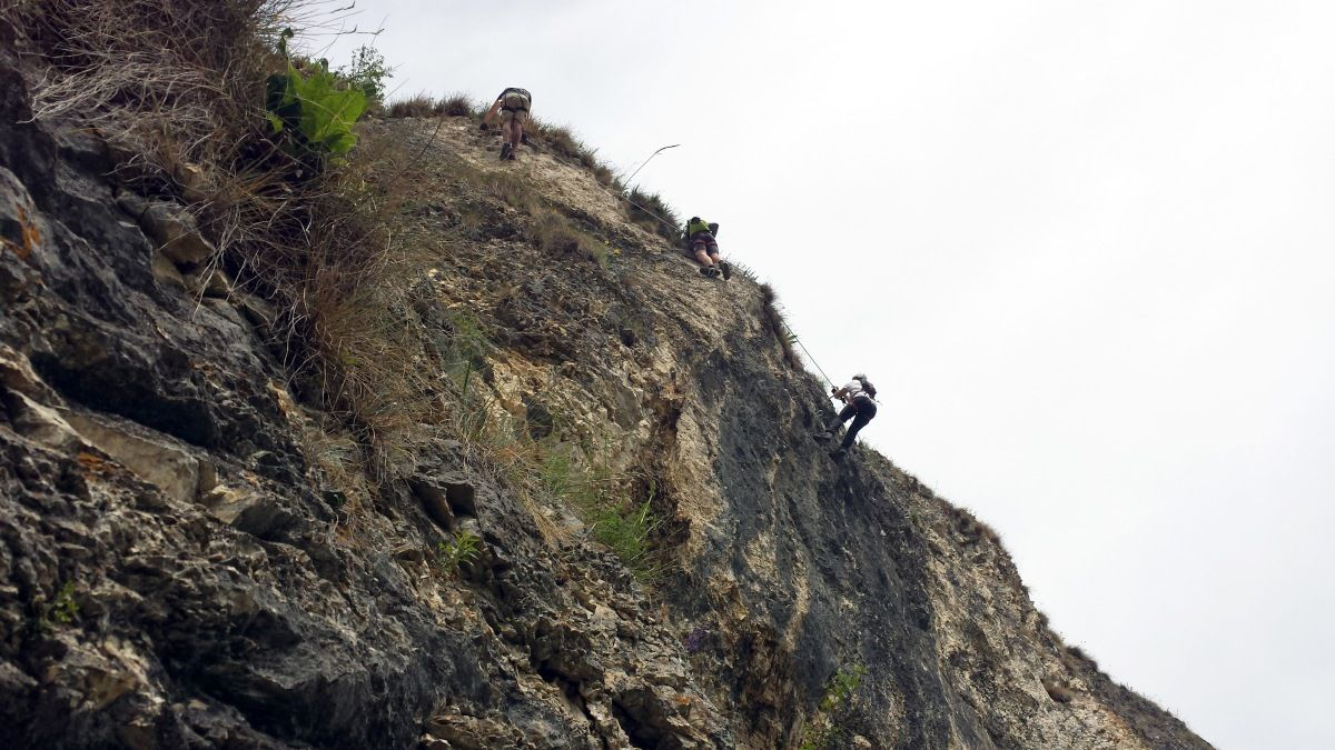 Klettersteig Griffen : Schlossberg klettersteig bergsteigen